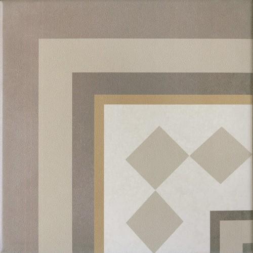 Carrelage imitation ciment beige taupe 20x20 cm CAPRICE LOIRE ANGLE 20937 - unité - Echantillon - zoom