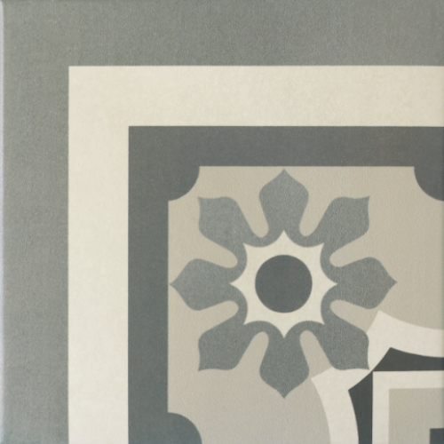 Carrelage imitation ciment rosace 20x20 cm CAPRICE CHATELET Angle - unité - Echantillon Equipe