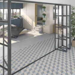 Carrelage imitation Terrazzo Granito 30x30 cm Amalfi Azul anti-dérapant R10 -   - Echantillon Vives Azulejos y Gres