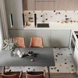 Carreau style granito coloré 80x80 cm STRACCIATELLA-R Nacar -   - Echantillon Arcana