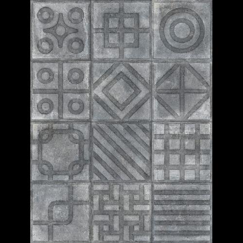 Carrelage imitation ciment 20x20 cm Paulista Grafito anti-dérapant R13 -   - Echantillon - zoom
