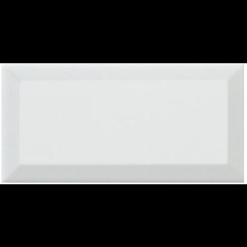 Carreau métro Blanc brillant 7,5x15 cm -   - Echantillon - zoom