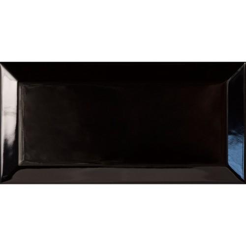Carreau métro Noir brillant 7.5x15 -   - Echantillon - zoom
