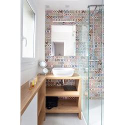 Carrelage METRO décor ciment PATCHWORK Colours 7.5x15 cm 20922 - 0.  - Echantillon Equipe