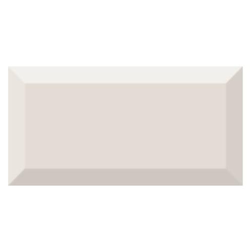 Carrelage métro biseauté brillant beige vanille 10x20cm MUGAT VAINILLA -   - Echantillon - zoom