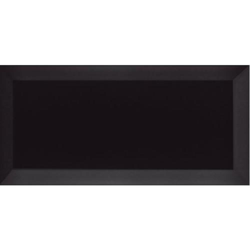 Carrelage Métro biseauté Negro noir brillant 10x20 cm -   - Echantillon Ribesalbes
