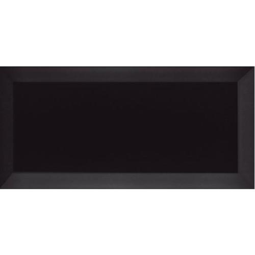 Carrelage Métro biseauté Negro noir brillant 10x20 cm -   - Echantillon - zoom