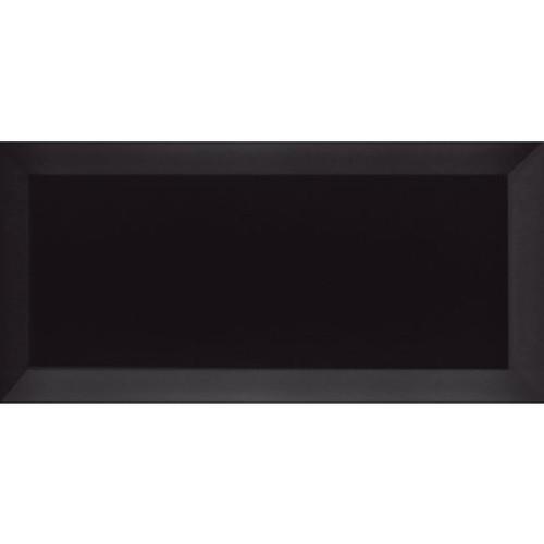 Carrelage Métro biseauté Negro noir mat 10x20 cm -   - Echantillon - zoom