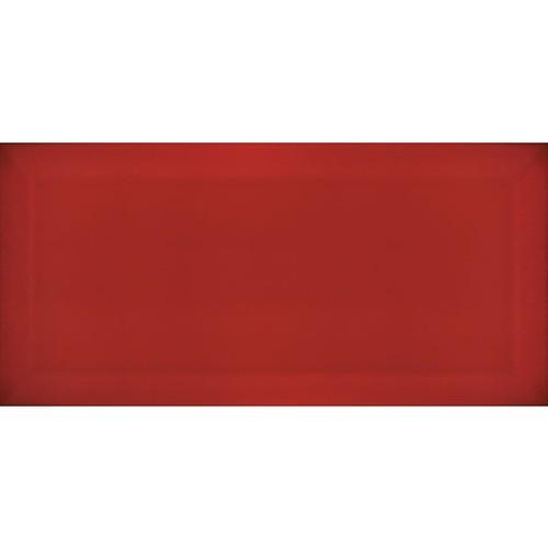 Carrelage Métro biseauté Rojo rouge brillant 10x20 cm -   - Echantillon - zoom