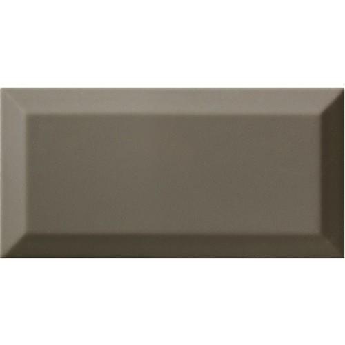 Carrelage Métro biseauté gris foncé brillant DARK GREY 10x20 cm -   - Echantillon Ribesalbes