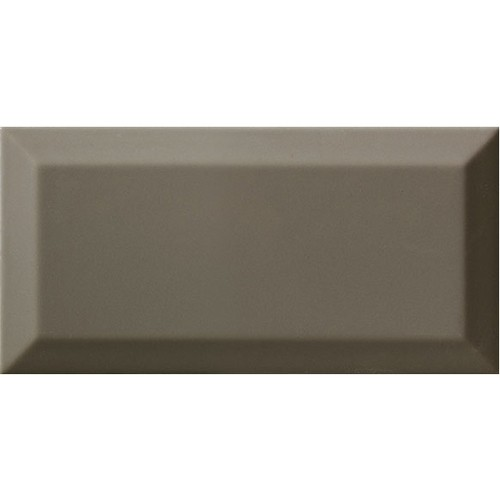 Carrelage Métro biseauté gris foncé brillant DARK GREY 10x20 cm -   - Echantillon - zoom