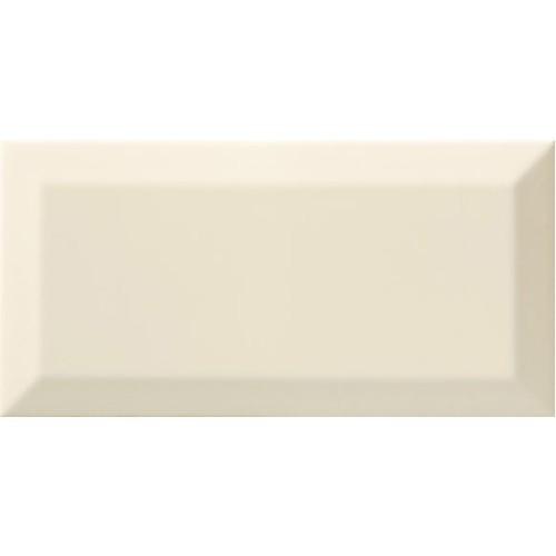 Carrelage Métro biseauté bone beige brillant 10x20 cm -   - Echantillon Ribesalbes