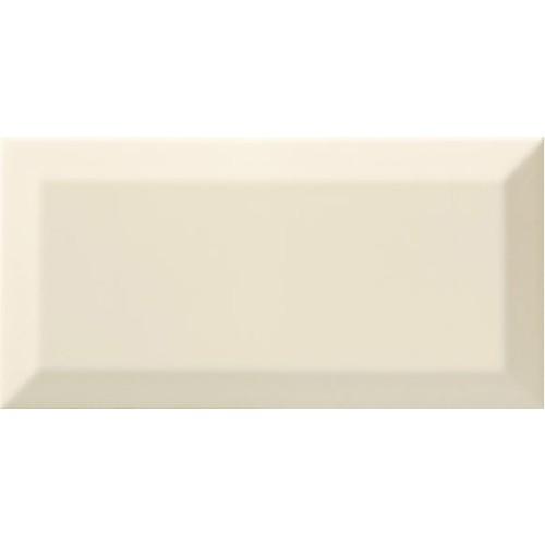 Carrelage Métro biseauté bone beige brillant 10x20 cm -   - Echantillon - zoom