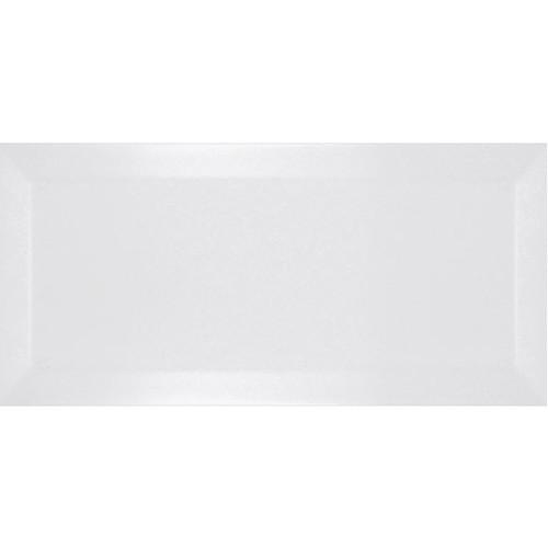 Carrelage métro biseauté blanco mate blanc 10x20 cm -   - Echantillon - zoom