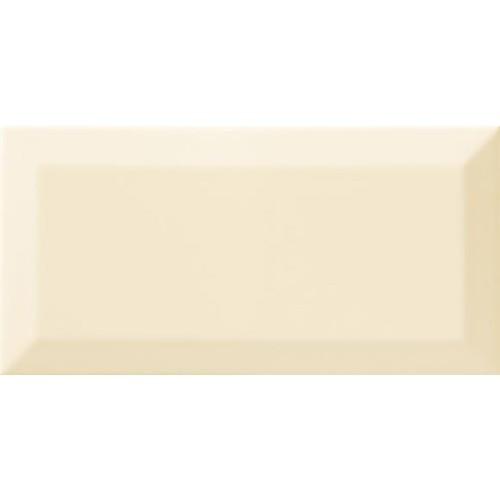 Carrelage Métro biseauté beige brillant 10x20 cm -   - Echantillon Ribesalbes