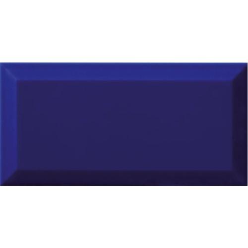 Carrelage Métro biseauté bleu foncé AZUL brillant 10x20 cm -   - Echantillon - zoom