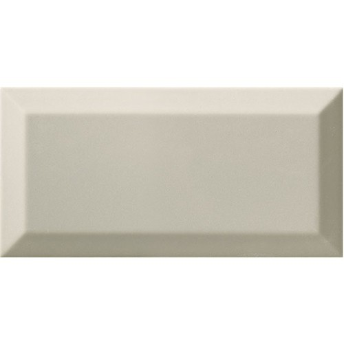Carrelage Métro biseauté gris clair brillant 10x20 cm -   - Echantillon Ribesalbes