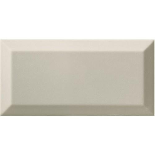 Carrelage Métro biseauté gris clair brillant 10x20 cm -   - Echantillon - zoom