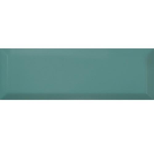 Carrelage Métro biseauté 10x30 cm TURQUESA brillant -    - Echantillon Ribesalbes