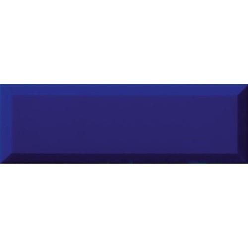 Carrelage Métro biseauté 10x30 cm azul bleu foncé brillant -    - Echantillon Ribesalbes
