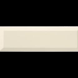 Carrelage Métro biseauté 10x30 cm bone beige brillant -    - Echantillon Ribesalbes
