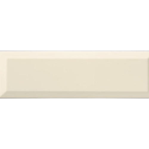 Carrelage Métro biseauté 10x30 cm bone beige brillant -    - Echantillon - zoom