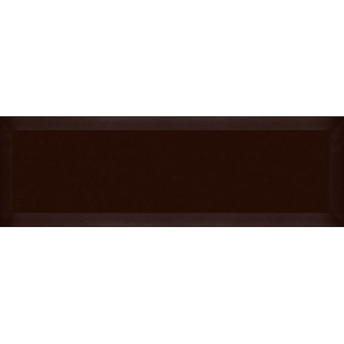 Carrelage Métro biseauté marron 10x30 cm Cacao Mat -    - Echantillon Ribesalbes