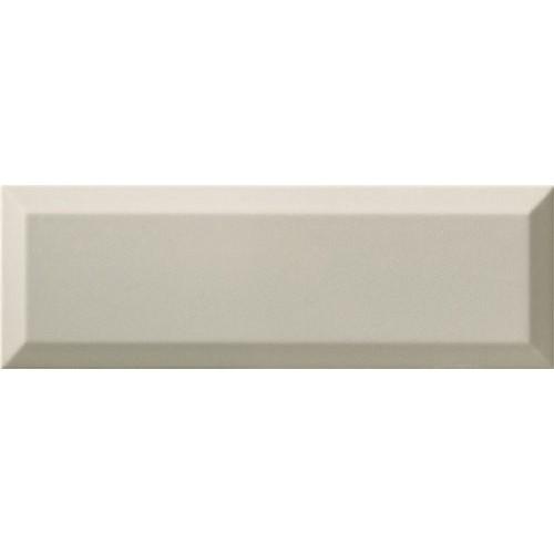 Carrelage Métro biseauté 10x30 cm gris clair brillant -    - Echantillon Ribesalbes
