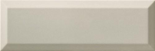Carrelage Métro biseauté 10x30 cm gris clair brillant -    - Echantillon - zoom