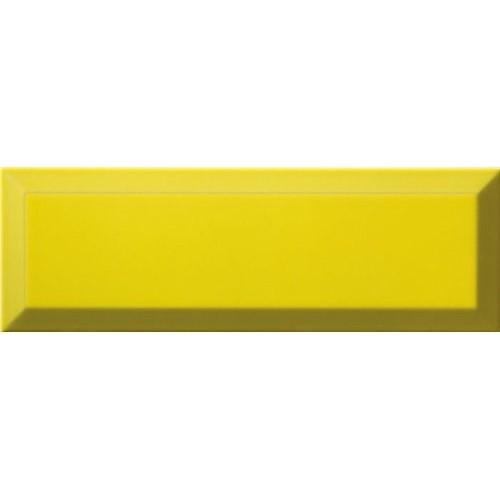 Carrelage Métro biseauté 10x30 cm limon jaune brillant -    - Echantillon Ribesalbes