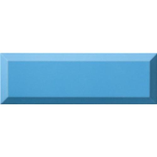 Carrelage Métro biseauté 10x30 cm mar bleu brillant -    - Echantillon Ribesalbes
