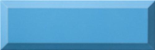Carrelage Métro biseauté 10x30 cm mar bleu brillant -    - Echantillon - zoom