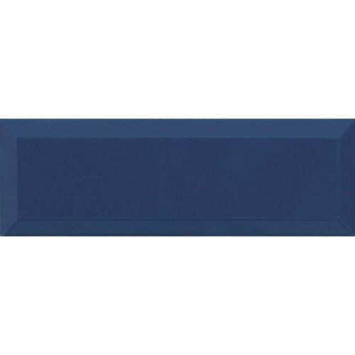 Carrelage Métro biseauté 10x30 cm marino bleu marine brillant -    - Echantillon Ribesalbes
