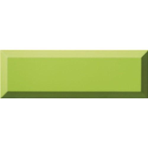 Carrelage Métro biseauté 10x30 cm menta vert pomme brillant -    - Echantillon Ribesalbes