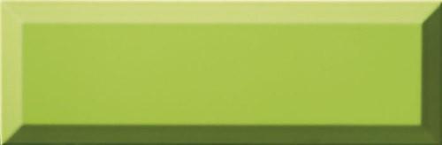 Carrelage Métro biseauté 10x30 cm menta vert pomme brillant -    - Echantillon - zoom