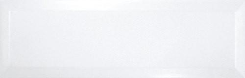 Carrelage Métro biseauté 10x30 cm blanc brillant -    - Echantillon - zoom