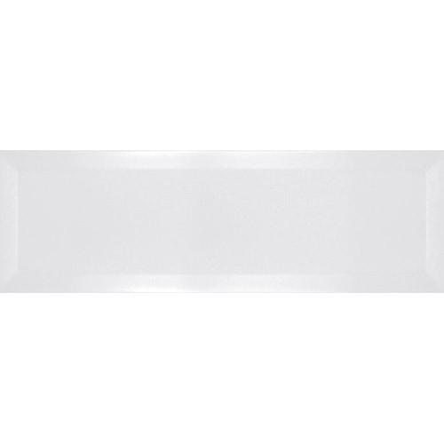 Carrelage métro biseauté 10x30 cm blanc mat -    - Echantillon Ribesalbes