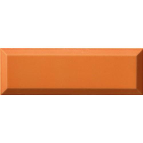 Carrelage Métro biseauté 10x30 cm naranja orange brillant -    - Echantillon Ribesalbes