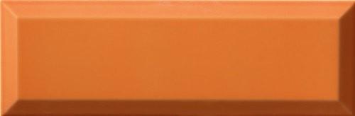Carrelage Métro biseauté 10x30 cm naranja orange brillant -    - Echantillon - zoom