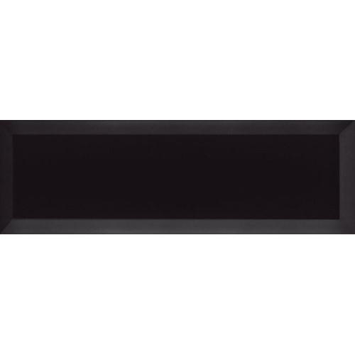 Carrelage Métro biseauté 10x30 cm noir brillant -    - Echantillon Ribesalbes