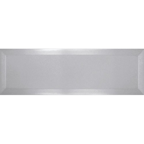 Carrelage Métro biseauté 10x30 cm perla gris perle brillant -    - Echantillon Ribesalbes