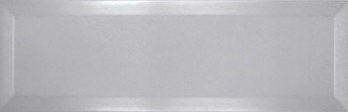 Carrelage Métro biseauté 10x30 cm perla gris perle brillant -    - Echantillon - zoom