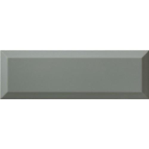 Carrelage métro gris vert cendré biseauté 10x30 cm Sage Brillant -    - Echantillon Ribesalbes