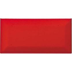 Carreau métro grès cérame rouge mat VERMIGLIO 7,5x15 cm -   - Echantillon CE.SI