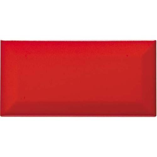 Carreau métro grès cérame rouge mat VERMIGLIO 7,5x15 cm -   - Echantillon - zoom