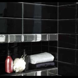 Carreaux Métro géants noir mat 15x45 cm -   - Echantillon El Barco