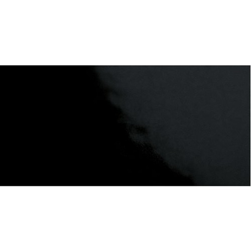 Carrelage Métro plat 10x20 cm noir brillant FLAT NEGRO BRILLO -   - Echantillon Ribesalbes