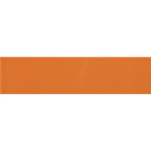 Carreau métro plat orange brillant 10x30 cm -     - Echantillon Ribesalbes