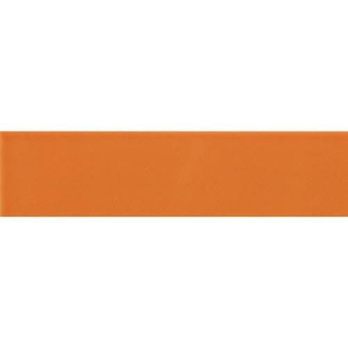 Carreau métro plat orange brillant 10x30 cm -     - Echantillon - zoom