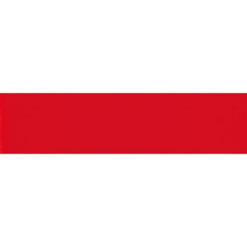 Carreau métro plat rouge brillant 10x30 cm -     - Echantillon Ribesalbes
